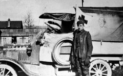 WWI Walt Disney and his Model T ambulance