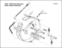 1909-1925 Rocky Mountain Brake Caliper Assembly