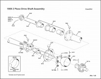 1909 2-Piece Driveshaft Assembly
