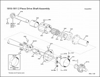 1910-1911 2-Piece Driveshaft Assembly