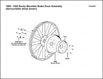1909-1925 Rocky Mountain Brake Drum Assembly