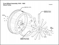1918-1925 Front Wheel Assembly WoodFelloe
