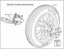 1926-1927 Front Wire Wheel Assembly