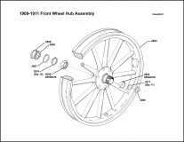 1909-1911 Front Wheel Hub Assembly