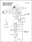 Kingston B Regenerator Vaporizer Manifold and Carburetor Assembly