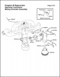 Kingston B Regenerator Vaporizer Carburetor Assembly