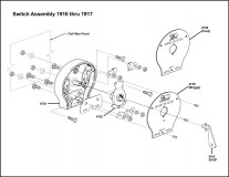 1916-1917 Switch Assembly