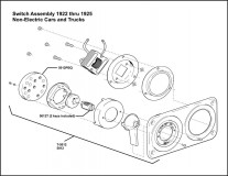 1922-1925 Switch Assembly Non-Starter Cars