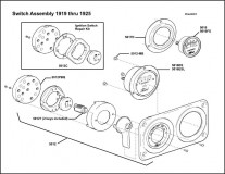 1919-1925 Switch Assembly (Fold over tab back)