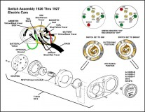 1926-1927 Switch Assembly Electric Cars