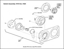 1919-1925 Switch Assembly (Pin back)