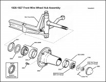 1926-1927 Front Hub Assembly for Wire Wheels