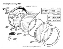 1926 Electric Headlight Assembly