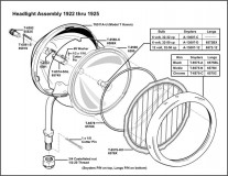 1922-1925 Electric Headlight Assembly